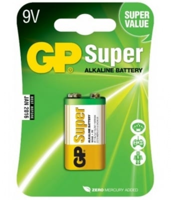 БАТЕРИЯ 9V GP SUPER ALKALINE