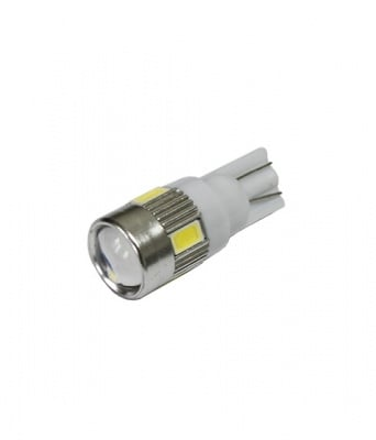 ЛАМПИ 12V T10 HP LED WHITE 6 LED