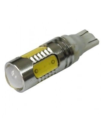 ЛАМПИ 12V T10 LED WHITE 5X5050 С ЛУПА 1