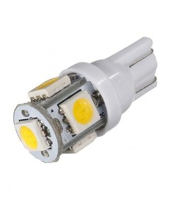 ЛАМПИ 12V T10 LED WHITE 5X5050
