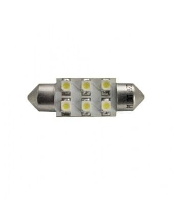 ЛАМПИ 12V T11 31MM LED 6X3528