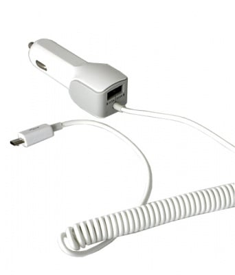 ЗАРЯДНО GSM USB+USB MICRO UNI 12V/2.1A