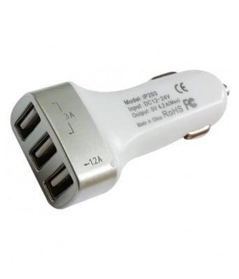 ЗАРЯДНО USB 12V/24V/4200MA 3 БРОЯ
