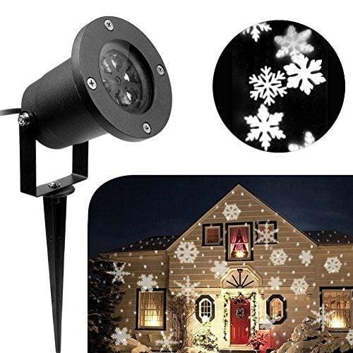 Светодиод прожектор тип снежинки, водоустойчив