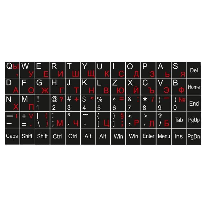 Букви за клавиатура DeTech,Кирилица и латиница