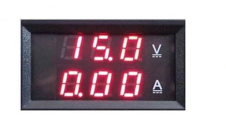Цифров волтметър амперметър  DC 100V 10A