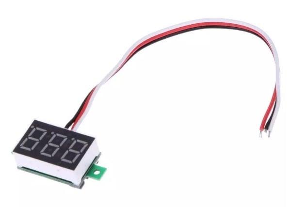 Цифров волтметър 0-100V DC мини с 3 проводника