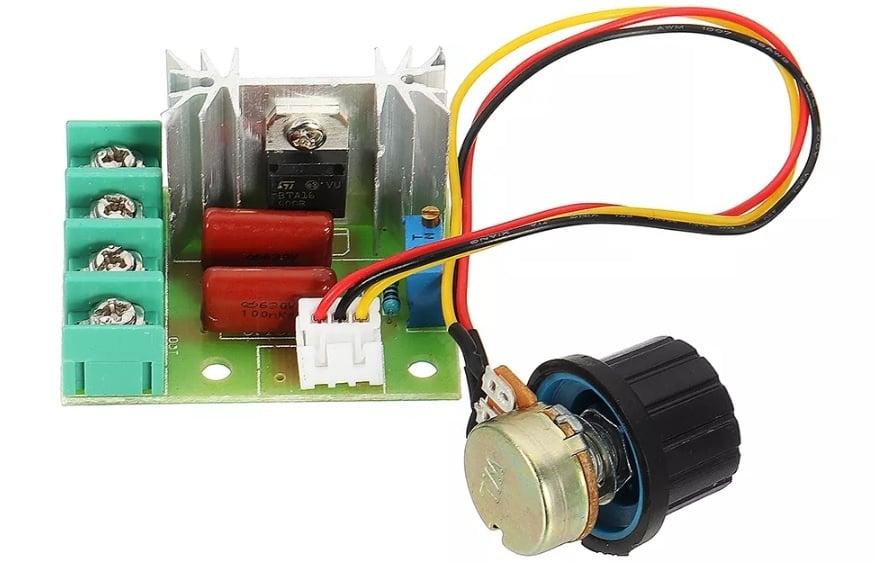 Фазов регулатор, димер до AC 2000W с изнесен потенциометър