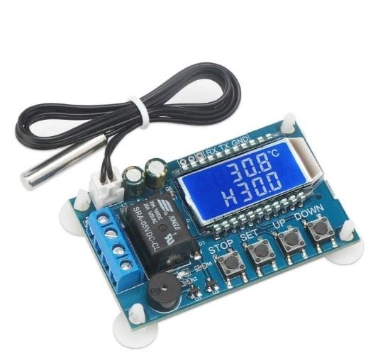 Цифров регулатор на температурата Термостат от -50 до +110C DC /6-30V/