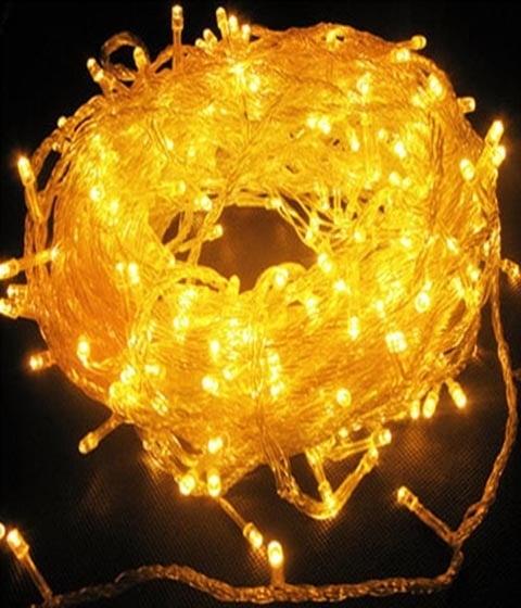 Коледни лампички тип гирлянд, жълти, christmas lights
