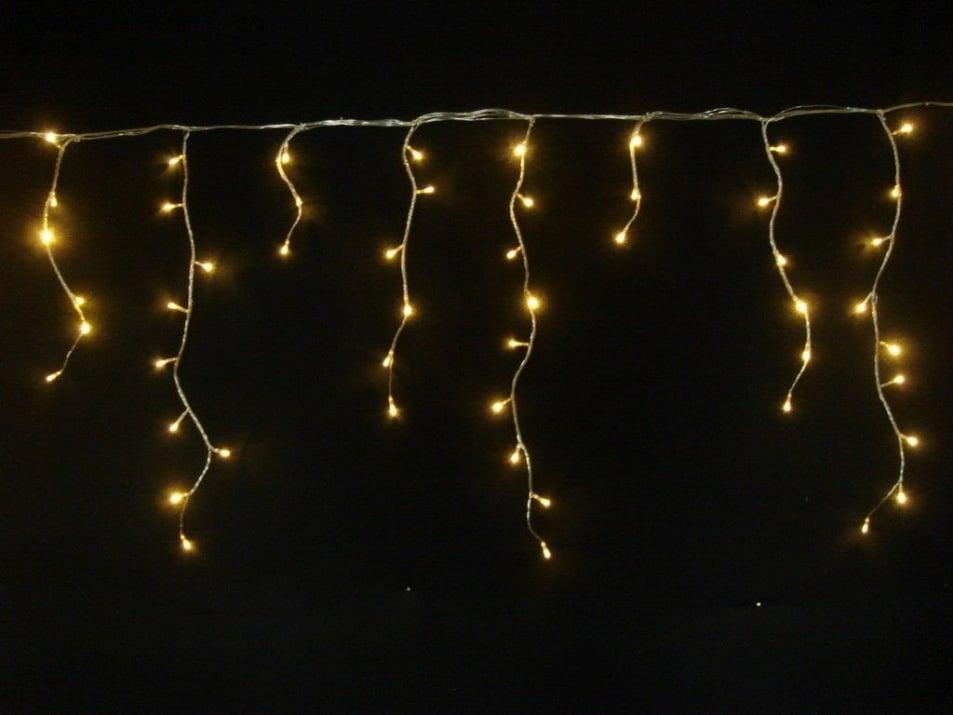 Коледна и празнична украса. Светещи висулки, топло бял цвят