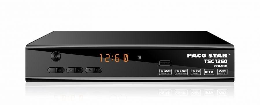 Комбиниран HD DVB-T/T2 + DVB-S/S2+ DVB-C приемник TSC1260