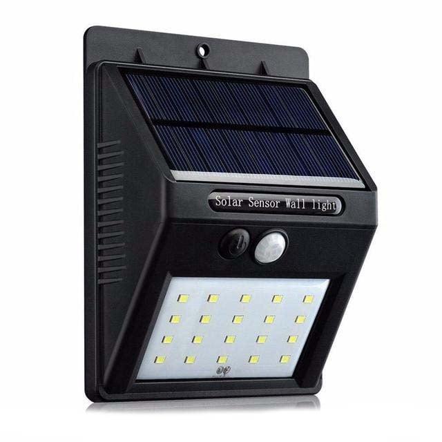 Соларен прожектор 20 LED с готоклетка и PIR датчик