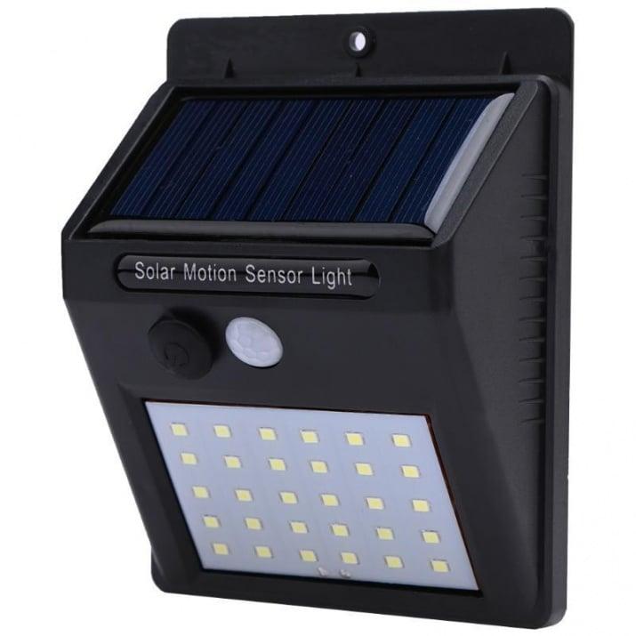 Соларен панел 30 LED с фотоклетка и датчик за движение