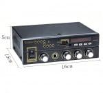 Усилвател Kinter T1 с Bluetooth / USB / TF / FM / AUX